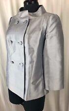 Talbots Size 4 Elegant Silver Silk & Wool Jacket  New $199 Blazer Womens Small