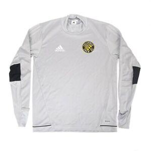 Columbus Crew SC MLS Adidas Men's Grey Climacool Long Sleeve Training Jersey