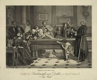 "The game of Billiards, POOL, antique art print, 20""x16"", 1800's - saloon scene"