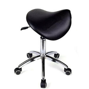 Dental Mobile Doctor's Stool Office Chair  Dentist's Saddle Chair PU Leather