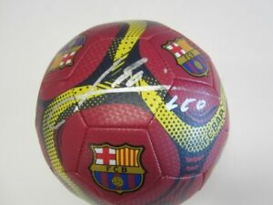 """Barcelona"" Lionel Messi Hand Signed LOGO Soccer Ball Global Authentic COA"