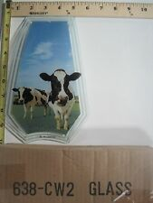 FREE US SHIP OK Touch Lamp Replacement Glass Panel Cows in the Field 638-CW2