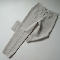NWT Emporio Armani Straight Trouser in Pale Gray Wool Silk Twill Pants 38 / 2