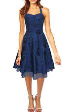 Polyester Halter Neck Plus Size Dresses Midi