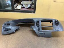 98-03 Ford F150 Speedometer & 4x4 Radio Bezel + Dash Trim Surround OEM Gray NICE