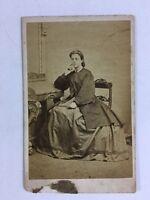 Victorian Carte De Visite CDV Photo - Lady - EA Carnell - New Radford
