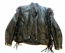 HARLEY DAVIDSON WOMEN BLACK LEATHER AN AMERICAN LEGEND/JACKET/SZ S MADE IN USA