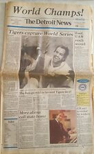 TIGERS WORLD SERIES DETROIT NEWS OCT 16 1984 CHAMPIONS COMPLETE PAPER
