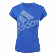 Women's adidas Badge Of Sport Crew Neck Short Sleeve T-Shirt in Blue