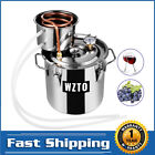 5 Gal 19L Water Alcohol Distiller Copper Tube Home Brewing Kit Stainless Steel