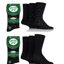Men's Luxury Gentle Grip Non Elastic Bamboo Blend Ankle Socks Size 6-11
