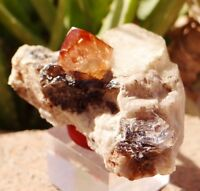 Natural Topaz Crystal W/Smokey Quartz & Feldspar Combine Specimen 410CT Skardu