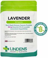 Lavendel (Ätherisches Öl) 80mg Kapseln (60 Pack)