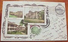 1908 Leading Hotels Greetings from Hawaiian Islands PMC #12