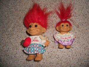2 RUSS Troll Dolls   Russ Red hair Mini Troll Doll