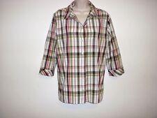 Mountain Lake Women's Size 18 Button Down Plaid Shirt Top Blouse Cotton Green