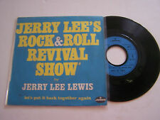 SP 2 TITRES VINYL 45 T , JERRY LEE LEWIS , ROCK ET ROLL REVIVAL SHOW . VG +/VG +