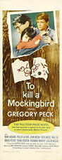 TO KILL A MOCKINGBIRD Movie POSTER 14x36 Insert B Gregory Peck Brock Peters