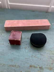 3 ANTIQUE VINTAGE JEWELRY STORE DISPLAY BOXES ONE IS KOST & BAIRD NJ