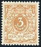 DR 1897, MiNr. 45 c, tadellos postfrisch, gepr. Jäschke-L., Mi. 100,-