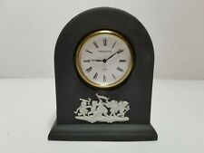 "Wedgwood Jasperware England Portland Blue Small Table Clock Dome 3 1/2"" Vintage"
