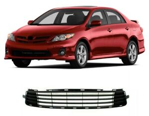 Fits For Toyota Corolla 2011 2013 Front Bumper Lower Grille Matte Black Grill