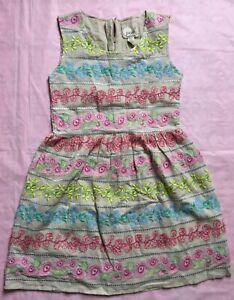 Peek Girls Dress with embroidery, Size 2XL,(12)