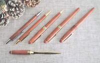 Rosewood Biro Ballpoint pen Letter opener Pencil Mens Womens Writing wooden wood