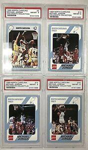 1989 Michael Jordan North Carolina Collegiate Collection PSA 8 Lot of 4