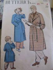 VINTAGE PATTERN-BUTTERICK 5109-GIRLS/BOYS BATHROBE,HOUSECOAT-SIZE 4-1950'S?