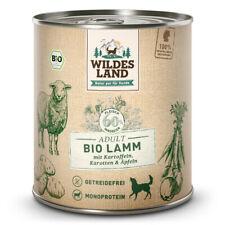 Wildes Land | Lamm mit Kartoffeln BIO | 6 x 800 g | Nassfutter | Hundefutter