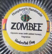 ZOMBEE Honey Soap Honeycomb Scent Unisex Body & Beard Wash Round Glycerin Bar