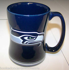 1 Seattle Seahawks NFL 14 oz. Sculpted Relief Mug Coffee Cup