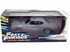1:18 Ertl Fast & FURIOUS 4 1970 CHEVY CHEVELLE SS PRIMER Gris - rare