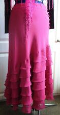 BOHO/FLAMENCO style pink flouncy,layer ,long skirt.size14uk.long,button detail