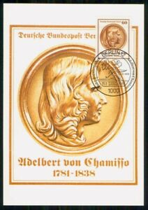 Mayfairstamps GERMANY FDC 1981 MAXIMUM CARD ADELBERT VON CHAMISSO wwm68855