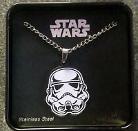 Disney 2015 Star Wars Stormtrooper Stainless Steel Pendant Necklace-  New