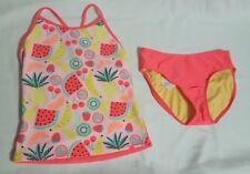 New Girls Cat & Jack 2Pc Fruit Print Tankini & Bottoms Swimsuit Size XL 14/16