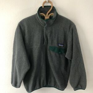 Mens Patagonia Synchilla Snap-T Fleece Pullover Extra Small XS Jacket Grey Green