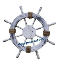 """Collectible 36"""" Nautical Wooden Ship Steering Wheel Pirate Wall Decor"""