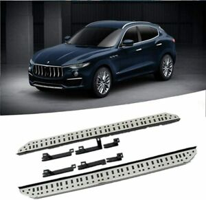 2Pcs Fits for Maserati Levante 2016-2020 Fixed Running Board Side Step Nerf Bar