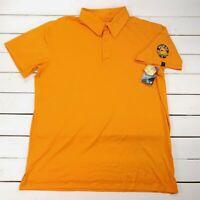 NEW Mountain Hardwear Golf Polo Mens Large Orange Shock Top UPF 25 P215