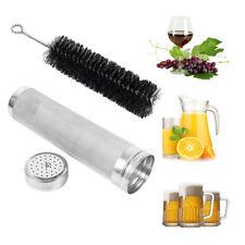300 Micron Stainless steel Keg Dry Hopper Filter hoping Home Brew + Brush