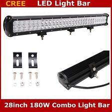 """180W 28""""INCH LED Light Bar Combo Lamp Offroad Driving UTE 4WD Ford Truck Chevy"""