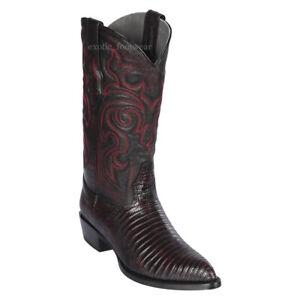 Men's Los Altos Genuine Teju Lizard Western Cowboy Boots J Toe