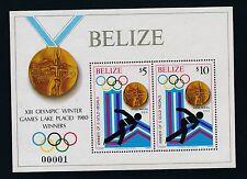 """Belize #511 """"LAKE PLACID '80 OLYMPICS"""" S/S  ** UNIQUE #00001 **"""