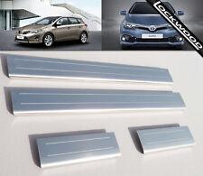 Toyota Auris Mk2 (sorti en 2013) en acier inoxydable Sill Protections/coup De Pied Plaques