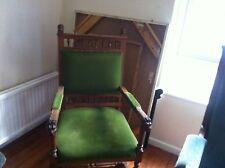 Two Green Velvet Chairs