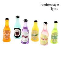 1PC Fruit Soda Wine Bottles for Dollhouse Miniature 1:12-Scale