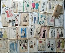 Vintage Unprinted Sewing Pattern Lot of 33 Vogue Hollywood Advance Misses Junior